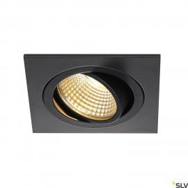 SLV 113880 NEW TRIA DL SQUARE SET,downlight, matt black, 6W, 38°, 2700K, incl. driver,