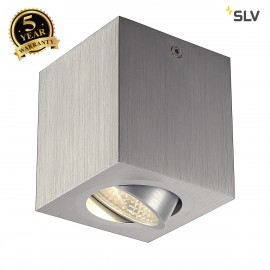 SLV 113946 TRILEDO SQUARE CL ceilinglight, alu brushed , LED, 6W,38°, 3000K, incl. driver