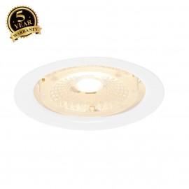 INTALITE 114051 F-Light LED DOWNLIGHT, white,round, rigid, 40°