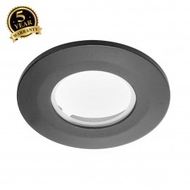 SLV 114080 Decorative frame for F-Lightdownlight, flat, round, black,with clear glass