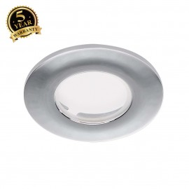 SLV 114082 Decorative frame for F-Lightdownlight, flat, round, chrome, with clear glass