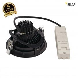 SLV 114110 SUPROS DL recessed ceilinglight, round, black, 3000K SLMLED, 60° reflector