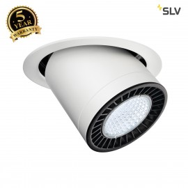 SLV 114171 SUPROS MOVE recessed ceilinglight, round, white, 3000lm,4000K, SLM LED, 60° reflector