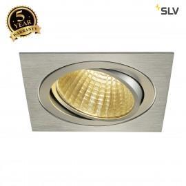 SLV 114286 NEW TRIA LED DL SQUARE SET,alu brushed, 25W, 30°, 2700K,incl. driver, clip springs