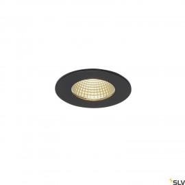 SLV 114420 PATTA-F recessed ceiling light, round, matt black, 9W, 38°,3000K, incl. driver