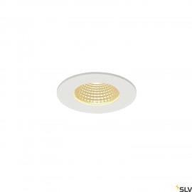 SLV 114421 PATTA-F recessed ceiling light, round, matt white, 9W, 38°,3000K, incl. driver