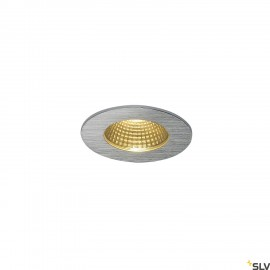 SLV 114426 PATTA-F recessed ceiling light, round, alu brushed, 9W, 38°,3000K, incl. driver