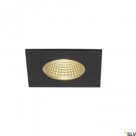 SLV 114430 PATTA-F recessed ceiling light, square, matt black, 9W, 38°,3000K, incl. driver