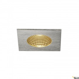 SLV 114436 PATTA-F recessed ceiling light, square, alu brushed, 9W, 38°, 3000K, incl. driver