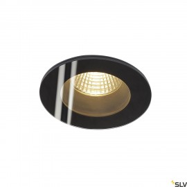 SLV 114440 PATTA-I recessed ceiling light, round, matt black, 9W, 38°,3000K, incl. driver