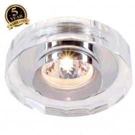 SLV 114921 CRYSTAL II downlight,chrome/crystal clear, MR16,max. 35W