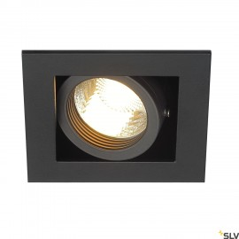 SLV 115510 KADUX 1 GU10 downlight, square, matt black, max. 50W
