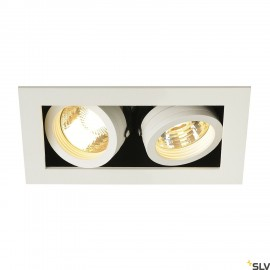 SLV KADUX 2 GU10 downlight, square , matt white, max. 2x50W 115521