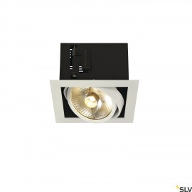 SLV 115541 KADUX 1 ES111 downlight,square , matt white, max. 50W