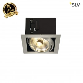 SLV 115546 KADUX 1 ES111 downlight,square , alu brushed, max. 50W