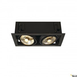 SLV 115550 KADUX 2 ES111 downlight,square , matt black, max.2x50W