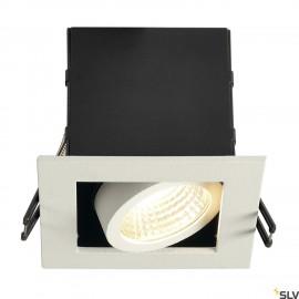 SLV 115701 KADUX LED DL SET, square, mattwhite, 9W, 38°, 3000K, incl.driver