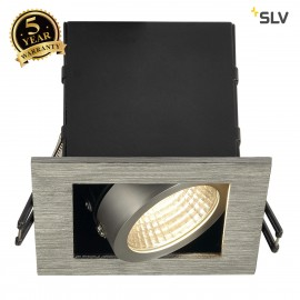 SLV 115706 KADUX LED DL SET, square, alubrushed, 9W, 38°, 3000K, incl.driver