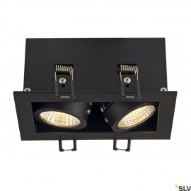SLV 115710 KADUX LED DL SET, rectangular,matt black, 2x 9W, 38°, 3000K, incl. driver