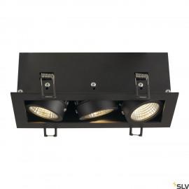 SLV 115720 KADUX LED DL SET, rectangular,matt black, 3x 9W, 38°, 3000K, incl. driver