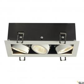 SLV 115721 KADUX LED DL SET, rectangular,matt white, 3x 9W, 38°, 3000K, incl. driver