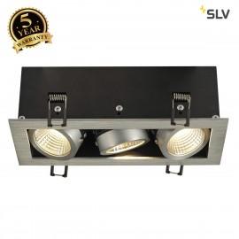 SLV 115726 KADUX LED DL SET, rectangular,alu brushed, 3x 9W, 38°,3000K, incl. driver