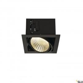 SLV 115730 KADUX LED DL SET XL, square,matt black, 24W, 30°, 3000K,incl. driver