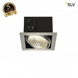 SLV 115736 KADUX LED DL SET XL, square,alu brushed, 24W, 30°, 3000K,incl. driver
