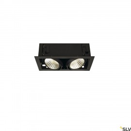 SLV 115740 KADUX LED DL SET XL, square,matt black, 2x 24W, 30°, 3000K, incl. driver