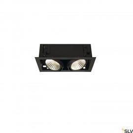 SLV 115740 KADUX LED DL SET XL, square,matt black, 2x 24W, 30°, 3000K, incl. driver