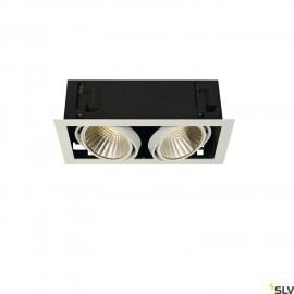 SLV 115741 KADUX LED DL SET XL, square,matt white, 2x 24W, 30°, 3000K, incl. driver