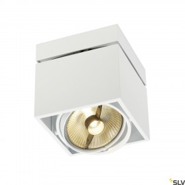 SLV 117101 KARDAMOD SURFACE SQUARE ES111SINGLE ceiling light, square,white, GU10, max. 75W