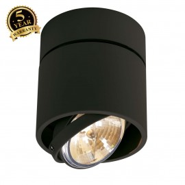SLV 117170 KARDAMOD SURFACE ROUND QRBSINGLE ceiling light, round,black, max. 50W