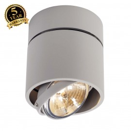 SLV 117174 KARDAMOD SURFACE ROUND QRBSINGLE ceiling light, round,silver-grey, max. 50W