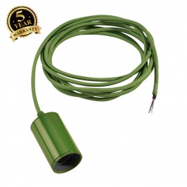 SLV 132655 FITU E27 PENDANT, round, ferngreen, E27, max. 60W, 2.5mcable with open cable end