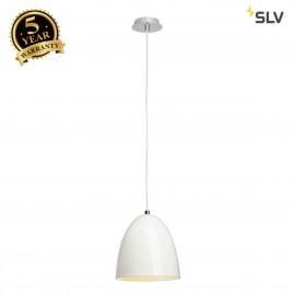 SLV 133001 PARA CONE 20 pendant, round,white, E27, max. 60W