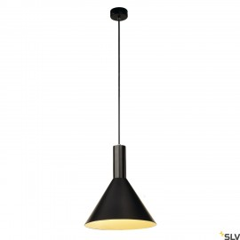 SLV 133310 PHELIA M PENDANT, black, E27,max. 23W