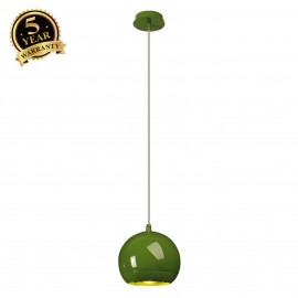 SLV 133485 LIGHT EYE pendant, fern green,GU10, max. 75W