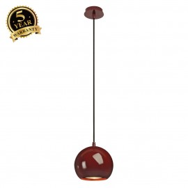 SLV 133486 LIGHT EYE pendant, wine red,GU10, max. 75W