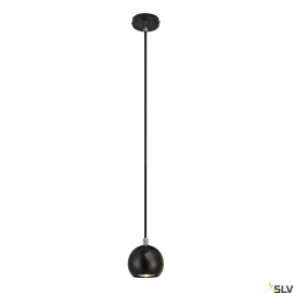 SLV 133490 LIGHT EYE BALL pendant,black/chrome, GU10, max. 5W