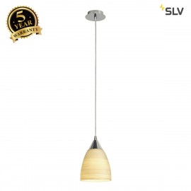SLV 133660 ORION S pendant, beige, E14,max. 40W, glass