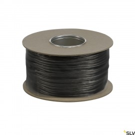 SLV 139060 LOW-VOLTAGE CABLE, for TENSEO low-voltage cable system, black, 6mm², 100m