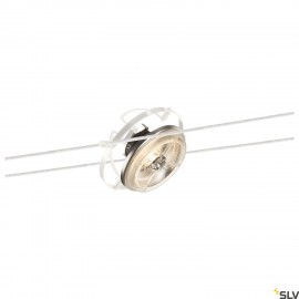 SLV 139111 QRB, cable luminaire for TENSEO low-voltage cable system, QR111, tiltable, white