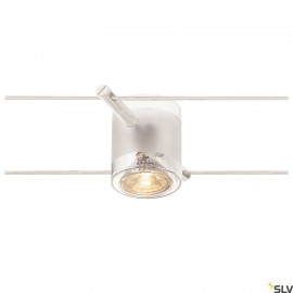 SLV 139121 COMET, cable luminaire for TENSEO low-voltage cable system, QR-C51, white, semi-frosted glass