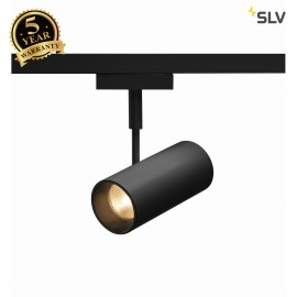 SLV 140200 REVILO LED Spot for 2Phase High-voltage Tracksystem, 2700K, black, 15°, incl. 2 Phase adapter