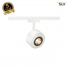 SLV 140251 TOTHEE, spot for SLV D-TRACK 2-phase high-voltage track LED, 3000K, white, 15°, incl. 2-phase adapter