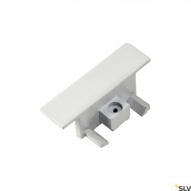 SLV 143281 End caps for 1-circuit track,recessed version, white, 2pcs.