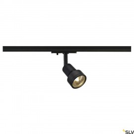 SLV 143390 PURI lamp head, black, GU10,max. 50W, incl. 1-circuitadapter
