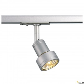 SLV 143392 PURI lamp head, silver-greyGU10, max. 50W, incl. 1-circuit adapter