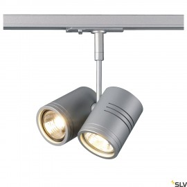 SLV 143432 BIMA II lamp head, silver-grey, 2x GU10, max. 2x50W, incl.1-circuit adapter